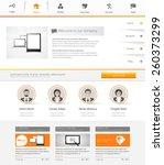 website template. vector... | Shutterstock .eps vector #260373299