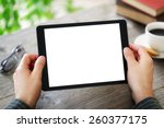 Digital Tablet With Blank...