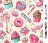 yummy colorful sweet lollipop... | Shutterstock .eps vector #260379695