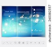 tri fold brochure mock up... | Shutterstock .eps vector #260382557