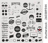 hipster style icon and labels... | Shutterstock .eps vector #260389544