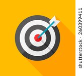 target flat icon with long... | Shutterstock .eps vector #260399411