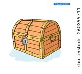 wooden chest. vector... | Shutterstock .eps vector #260399711