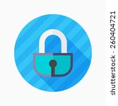 lock flat icon with long shadow ...