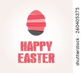 modern happy easter vector card | Shutterstock .eps vector #260405375