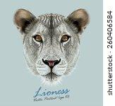 Lioness Animal Cute Face....