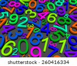 background of numbers. from... | Shutterstock . vector #260416334