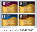 colorful modern text box... | Shutterstock .eps vector #260422445