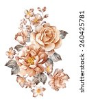 watercolor illustration bouquet ... | Shutterstock . vector #260425781
