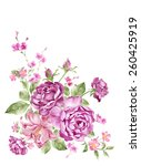watercolor illustration bouquet ... | Shutterstock . vector #260425919