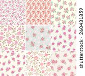 floral seamless vintage pattern ... | Shutterstock .eps vector #260431859