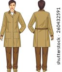 the suit for the woman consists ... | Shutterstock .eps vector #260432591