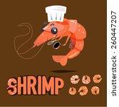 shrimp chef character design...   Shutterstock .eps vector #260447207