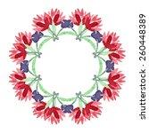 watercolor flower mandala. lace ... | Shutterstock .eps vector #260448389