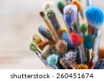 bunch of artist paintbrushes... | Shutterstock . vector #260451674