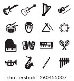 musical instruments icons   Shutterstock .eps vector #260455007