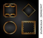 gold background design  vector...   Shutterstock .eps vector #260462447