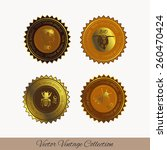 set for honey icons and... | Shutterstock .eps vector #260470424