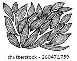 zen tangle leafs