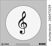 pictograph of music key | Shutterstock .eps vector #260473259