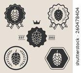 Hop Craft Beer Sign Symbol...