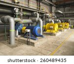 several water pumps with large... | Shutterstock . vector #260489435