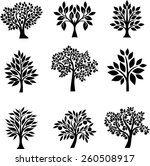 tree set | Shutterstock .eps vector #260508917