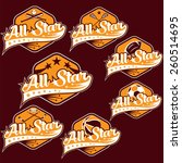 set of vintage sports all star... | Shutterstock .eps vector #260514695