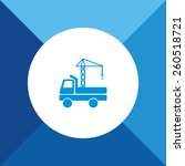 crane truck icon on blue... | Shutterstock .eps vector #260518721