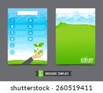 brochure design template eco... | Shutterstock .eps vector #260519411