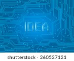 idea on electric integrated... | Shutterstock .eps vector #260527121