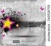 retro grunge background with... | Shutterstock .eps vector #260528705