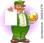 german with a poster and a beer | Shutterstock .eps vector #260541179