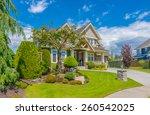 big custom made luxury house... | Shutterstock . vector #260542025