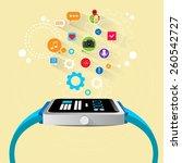 smart watch new technology...   Shutterstock .eps vector #260542727