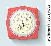flat stylized barometer... | Shutterstock .eps vector #260544125