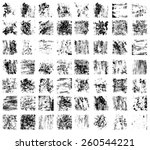 vector large set of modern... | Shutterstock .eps vector #260544221
