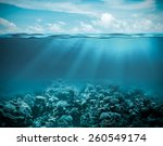 sea or ocean underwater deep... | Shutterstock . vector #260549174