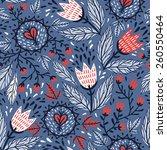 vector floral seamless pattern... | Shutterstock .eps vector #260550464