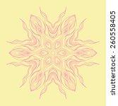 spring circular pattern  vector ... | Shutterstock .eps vector #260558405