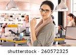 casual caucasian businesswoman... | Shutterstock . vector #260572325