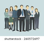 business group director chief... | Shutterstock .eps vector #260572697