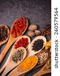 ingredients spices | Shutterstock . vector #260579564