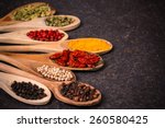 spices ingredients | Shutterstock . vector #260580425