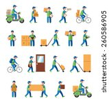 courier  delivery  postman... | Shutterstock .eps vector #260586905