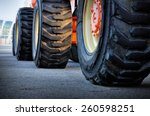 Close Up Of Tractor Tire ...