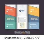 vector business style bi fold... | Shutterstock .eps vector #260610779