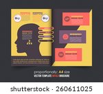 business strategy theme bi fold ... | Shutterstock .eps vector #260611025