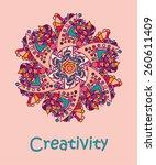 multi colored simple doodle... | Shutterstock . vector #260611409