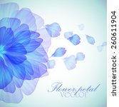 watercolor floral round... | Shutterstock .eps vector #260611904